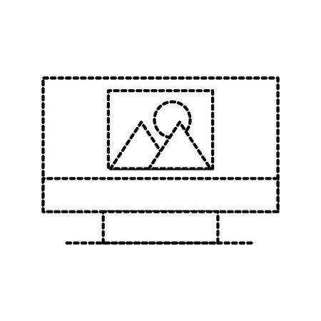 사진 갤러리 앨범 온라인 웹 응용 프로그램 벡터 일러스트와 모니터