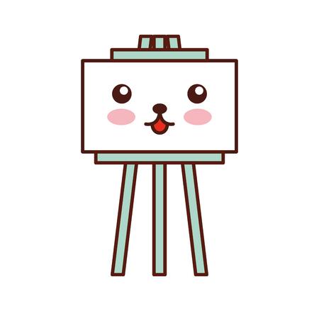 graphic design presentation board cartoon vector illustration