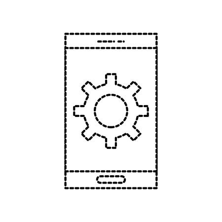 smartphone versnelling oplossing samenwerking online vectorillustratie Stock Illustratie