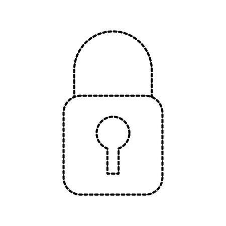 security lock access file information protection vector illustration Illusztráció