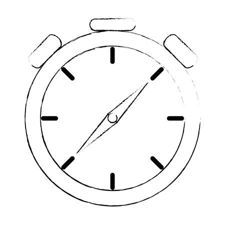 Timer cronometro isolato icona illustrazione vettoriale progettazione Archivio Fotografico - 87732432