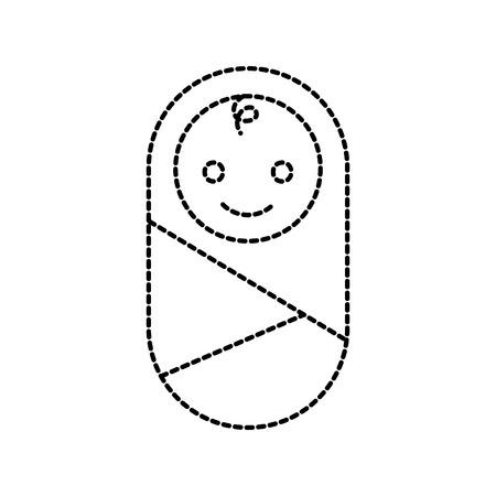 baby verpakt in deken kleren gezondheidszorg vector illustratie