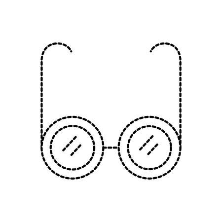 bril medische optiek frame lens pictogram vectorillustratie Stock Illustratie