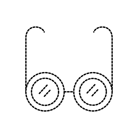 glasses medical optic frame lens icon vector illustration Ilustrace