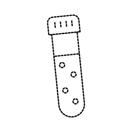 모자 실험 장비 벡터 일러스트와 함께 유리 테스트 튜브