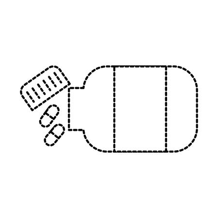 medicine bottle capsule healthcare symbol vector illustration