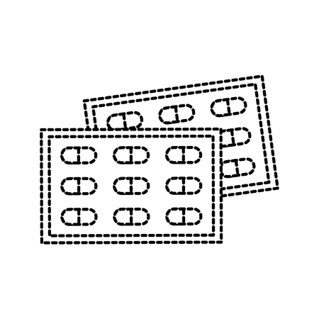 Drug problème médicale vaccin de médicament pour la chirurgie des comprimés antibiotique illustration vectorielle Banque d'images - 87731439