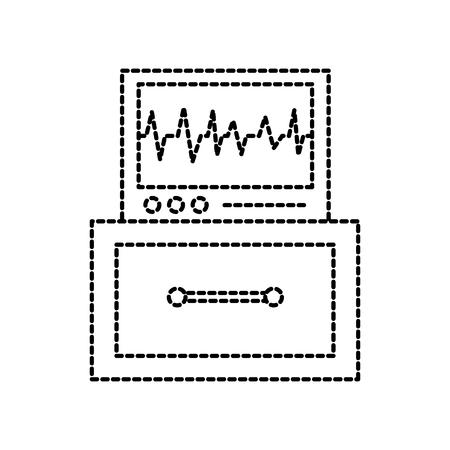ecg machine displaying heartbeat monitoring vector illustration