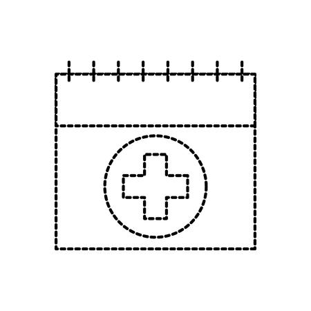 kalender voor menstruatie vrouwelijke gezonde vector illustratie