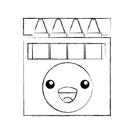 crayon box graphic design creative cartoon vector illustration