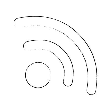 와이파이 신호 아이콘 벡터 일러스트 디자인 격리 스톡 콘텐츠 - 87731400