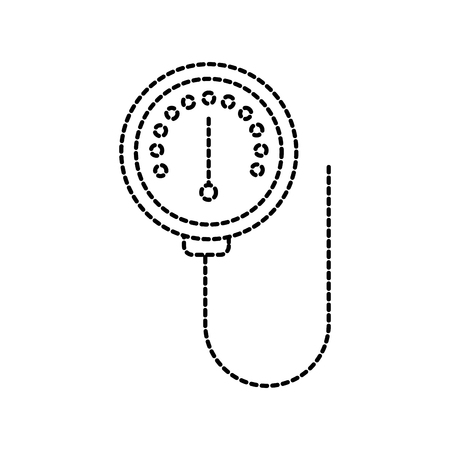 scale of meter device manometer pressure gauge vector illustration
