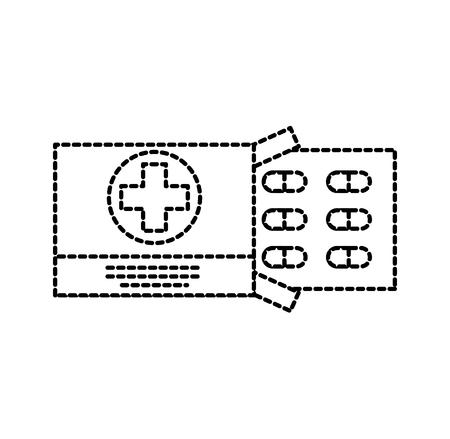 Drug problème médicale vaccin de médicament pour la chirurgie des comprimés antibiotique illustration vectorielle Banque d'images - 87731242