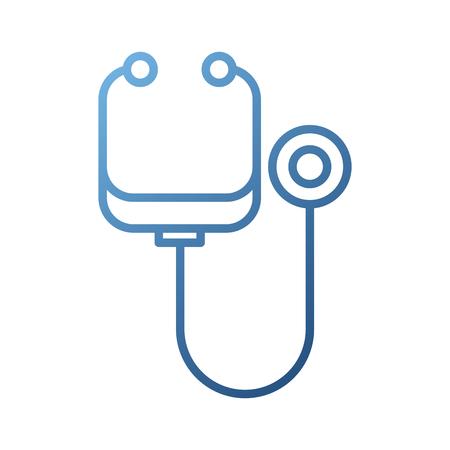 stethoscope medicine instrument health examination cardiology vector illustration