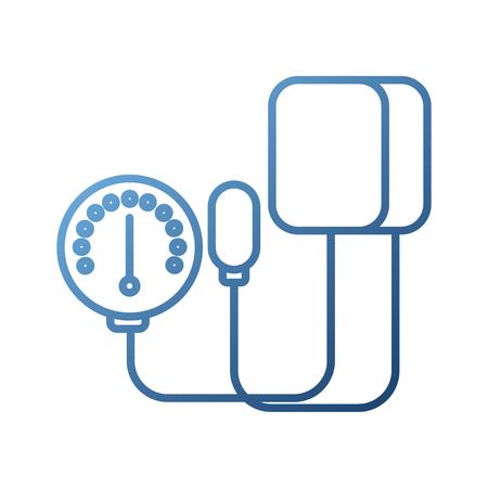 Tonometro medico per la misurazione della pressione sanguigna isolato su sfondo bianco illustrazione vettoriale Archivio Fotografico - 87731275