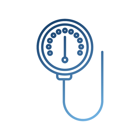 scale of meter device manometer pressure gauge vector illustration