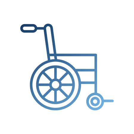 Equipo médico de silla de ruedas desactivar ilustración de vector de transporte Foto de archivo - 87732379