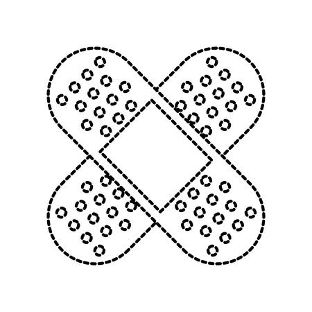 크로스 타입 아이콘 벡터 일러스트의 첫 번째 석고 의료
