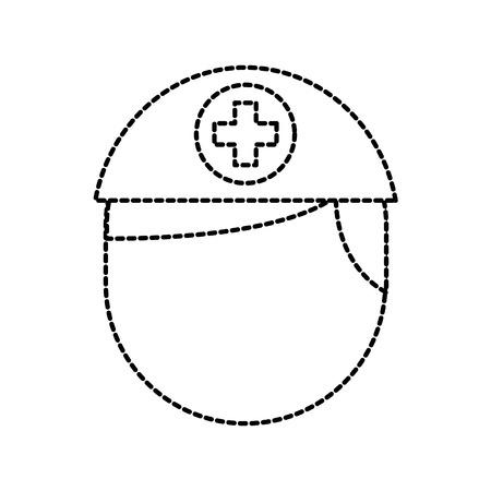 nurse avatar staff clinical people profesional vector illustration