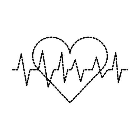 Ilustración de vector de diagnóstico cardiológico de latido del corazón Ilustración de vector