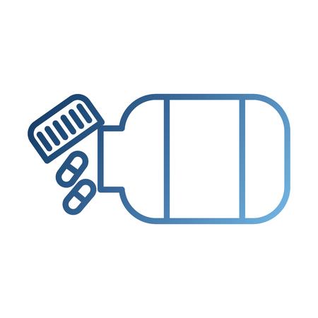 Medicina bottiglia capsula sanità simbolo illustrazione vettoriale Archivio Fotografico - 87732341