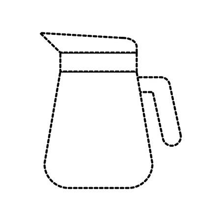 白い背景のベクトル図に分離されたハンドルを持つプラスチック ピッチャー  イラスト・ベクター素材