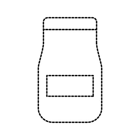 Bocal en verre avec cuisine restaurant restaurant restaurant illustration vectorielle Banque d'images - 87732343