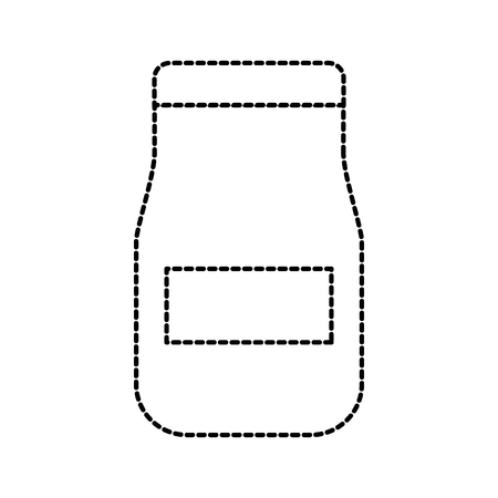 glazen pot met saus product restaurant keuken vectorillustratie Stock Illustratie