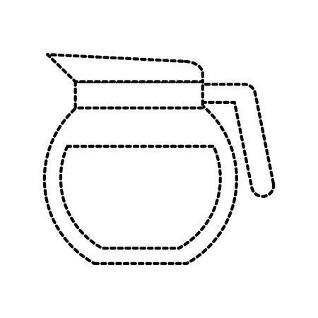 glas koffie-  theevoorzieningen drank keuken apparatuur vectorillustratie Stock Illustratie