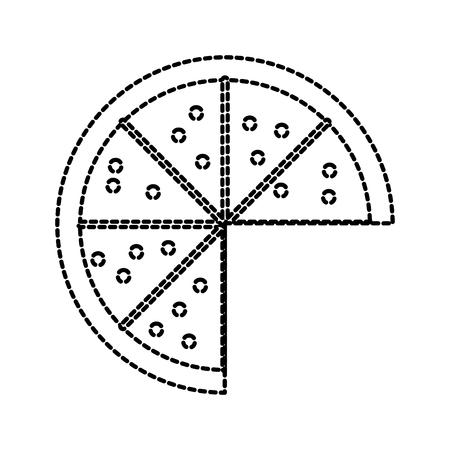 치즈 페퍼로니 맛있는 벡터 일러스트와 함께 패스트 푸드 피자 일러스트