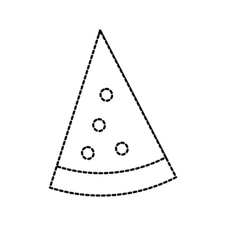 slice pizza fast food cheese tasty vector illustration Ilustração