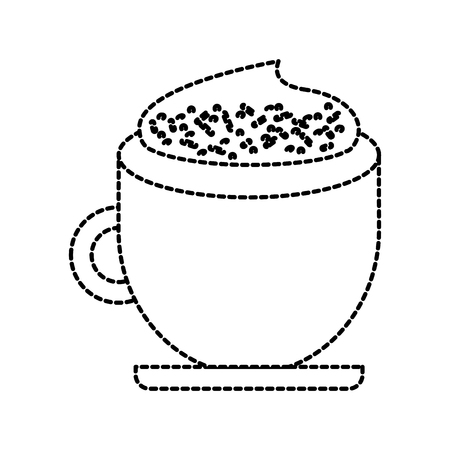커피 컵 크림 계 피 음료 신선한 벡터 일러스트 레이션