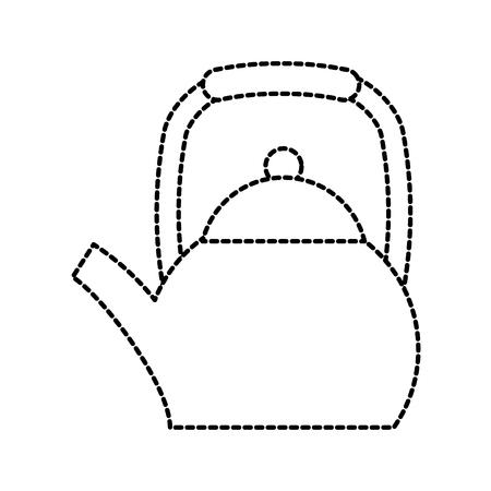 Tetera hervidor de agua manejar ilustración restaurante vector Foto de archivo - 87732386