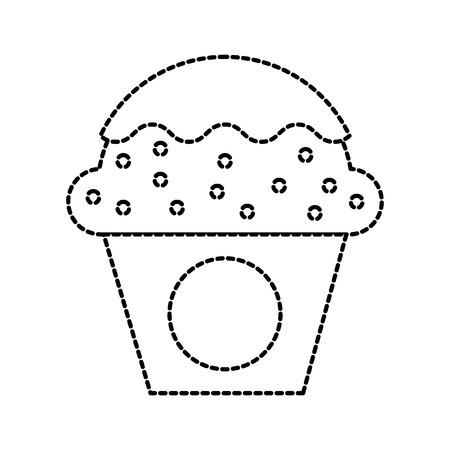 dessert food cup cake cream sweet bakery vector illustration