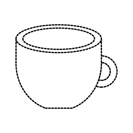 coffee cup beverage fresh aroma symbol vector illustration