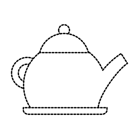 teapot kettle drink handle restaurant vector illustration