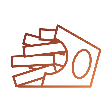 Fast-Food-Pommes frites in Box zum Mitnehmen Vektor-Illustration Standard-Bild - 87736688