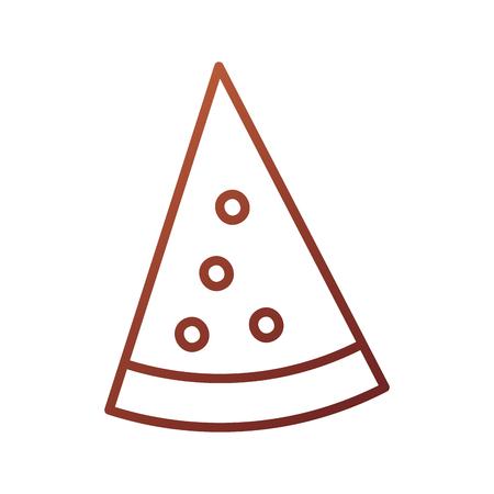 slice pizza fast food cheese tasty vector illustration Illustration