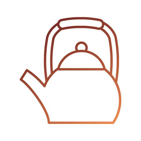 teapot kettle drink handle restaurant vector illustration
