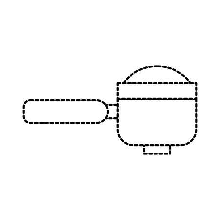 portafilter epresso coffee machine accessory vector illustration Illustration