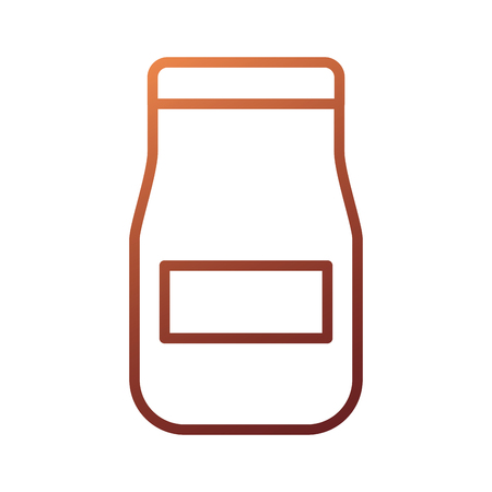 glass jar with sauce product restaurant kitchen vector illustration 版權商用圖片 - 87736704