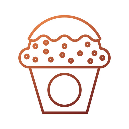 dessert food cup cake cream sweet bakery vector illustration Stock fotó - 87736706