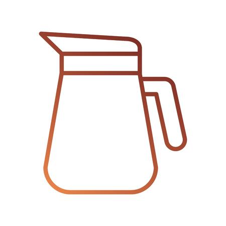 jarra de plástico con mango aislado en la ilustración de vector de fondo blanco Ilustración de vector