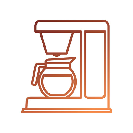 coffee maker machine glass electrical appliance vector illustration