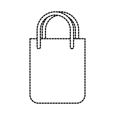 paper bag gift shopping commerce market vector illustration Illustration