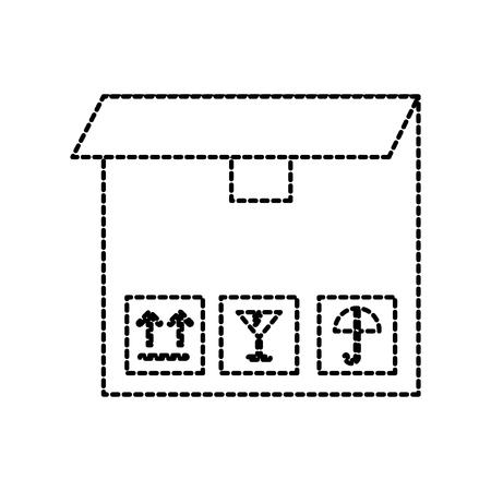delivery cardboard box pack cargo icon vector illustration Illusztráció