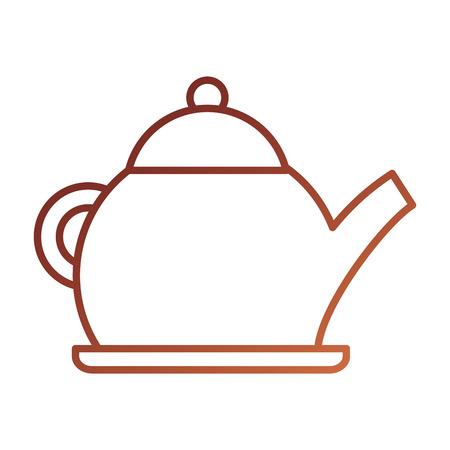 theepot ketel drinken handvat restaurant vectorillustratie