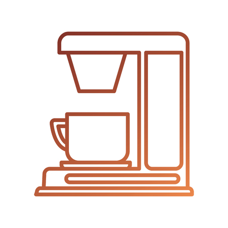 Kaffeemaschine mit Porzellanschalenmaschine Geräteküche-Vektorillustration Standard-Bild - 87734079