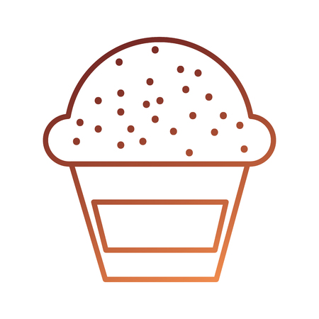 dessert food cup cake cream sweet bakery vector illustration