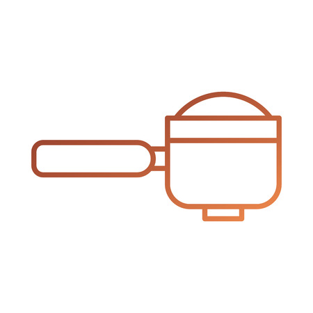 portafilter e-mail koffiemachine accessoire vector illustratie Stock Illustratie
